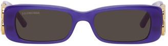 Balenciaga Purple BB Rectangular Sunglasses