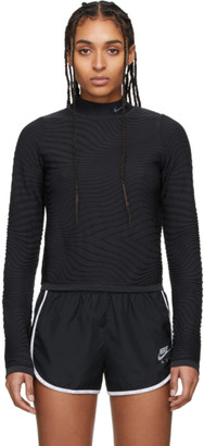 Nike Black Run City Ready Turtleneck