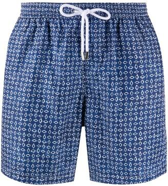 Barba Geometric-Print Swim Shorts