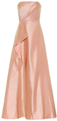 Marchesa Exclusive to Mytheresa Satin bustier gown
