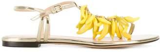 Charlotte Olympia banana embellished sandals