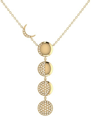 Lmj Moon Transformation Necklace In 14 Kt Yellow Gold Vermeil On Sterling Silver