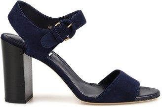 Tod's Buckle Block Heel Sandals