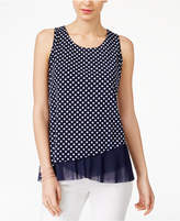 INC International Concepts Petite Printed Asymmetrical Top, Created for Macy's