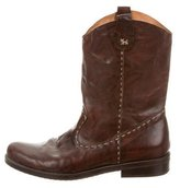 Henry Beguelin Leather Round-Toe Boots