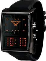 Black Dice Dice Men's Duo BD-049-04 Rubber Analog Quartz Watch with Dial