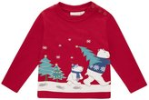 Jo-Jo JoJo Maman Bebe Polar Bear Top (Baby) - Red-12-18 Months