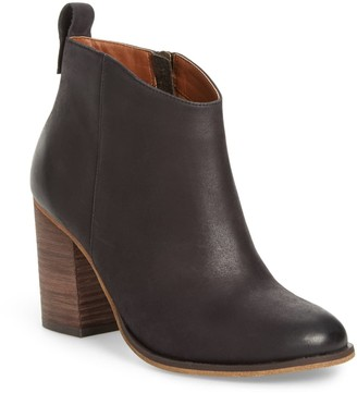 BP Lance Leather Block Heel Bootie- Wide Wdith Available
