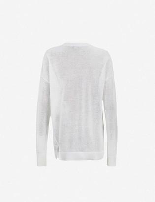 AllSaints Vita brand-pattern cotton-knit jumper