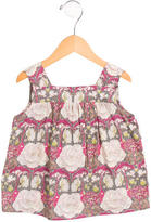 Bonpoint Girls' Floral Print Sleeveless Top