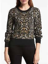 Somerset by Alice Temperley Leopard Print Jumper, Natural