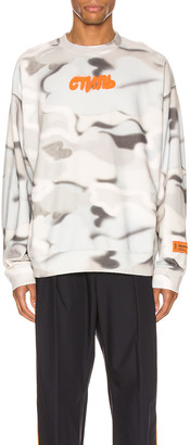 Heron Preston Crewneck Camo in Multi & Orange | FWRD