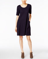 Eileen Fisher Hemp-Organic Cotton Elbow-Sleeve Shift Dress, a Macy's Exclusive Style