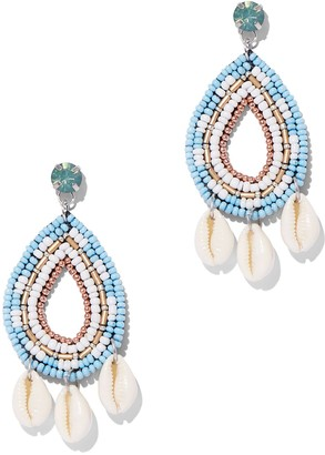New York & Co. Seed Bead & Cowrie Shell Drop Earring
