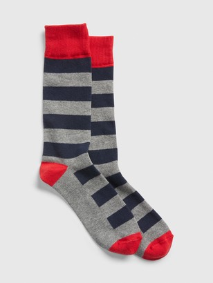 Gap Colorblock Stripe Crew Socks