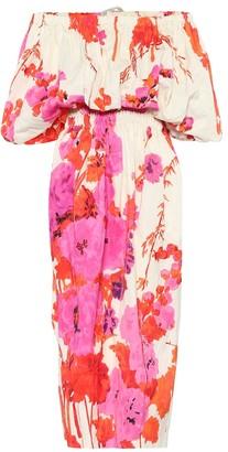 Dries Van Noten Floral midi dress