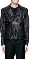 Neil Barrett Stud embellished buffalo leather jacket