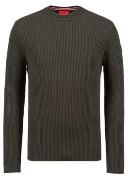 HUGO Boss Extra-slim-fit virgin-wool sweater military detail XXL Dark Green
