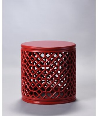 Bungalow Rose Beckwith Jali End Table Color: Red
