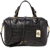 Lauren Ralph Lauren Birchfield Croco-Embossed Santana Satchel