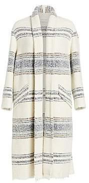 Etoile Isabel Marant Women's Faby Striped Open Coat