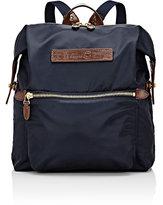 Felisi Men's Leather-Trimmed Backpack-NAVY