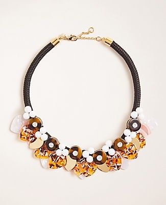 Ann Taylor Acetate Tulip Statement Necklace