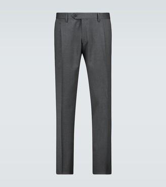 Lardini Single-pleated wool-blend pants