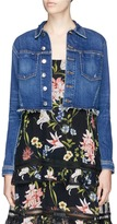 L'Agence 'Zuma' let out hem cropped denim jacket