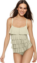 MICHAEL Michael Kors Tiered Ruffle One-Piece Swimsuit