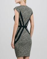 Erin Fetherston Corrine Cap-Sleeve Herringbone Dress