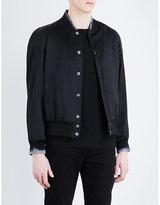 Saint Laurent Moon-printed Satin Jacket