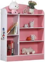OliandOla Kids Skater 5 Shelf Bookshelf, Pink
