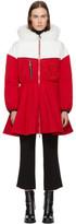 Moncler Gamme Rouge Red & White Down Jiya Kwon Coat