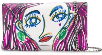Moschino Doodle Face Crossbody Bag