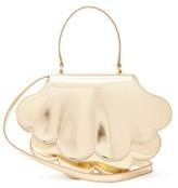 Simone Rocha Flower Bean Patent-leather Clutch Bag - Womens - Gold