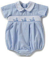 Edgehill Collection Baby Boys 3-9 Months Whale Smocked Shortall