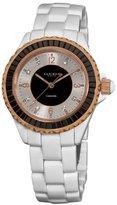 Akribos XXIV Women's AK498BK Ceramic Baguettes Fashion Crystal Watch