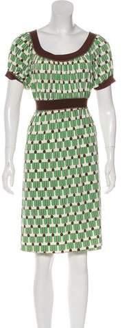 Max Studio Printed Knee-Length Dress