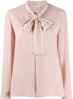 RED Valentino pussy bow shirt