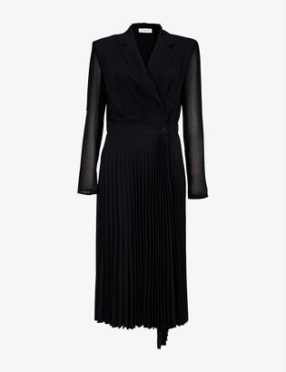 Sandro Blazer-style woven midi dress