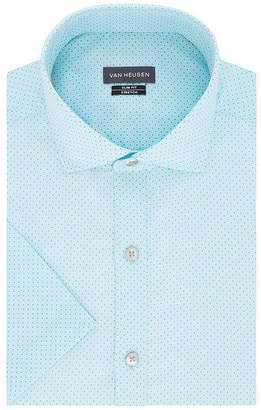 Van Heusen Mens Wrinkle Free Short Sleeve Stretch Dress Shirt - Big & Tall