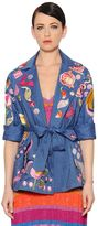 Temperley London Embroidered Cool Wool & Linen Jacket