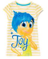 Children's Apparel Network Yellow 'Joy' Inside Out Cap-Sleeve Top - Toddler