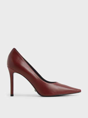 Charles & Keith Patent Leather Pointed Toe Stiletto Pumps