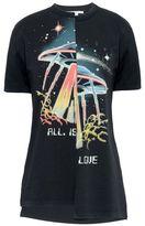 Stella McCartney black ufo print t-shirt