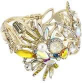 Betsey Johnson Yellow and Gold Bird Bangle Bracelet