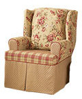 Sure Fit Lexington Wing Chair T-Cushion Slipcover
