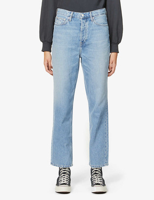 Calvin Klein Dad faded wide-leg high-rise jeans