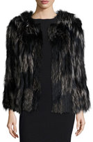 Diane von Furstenberg Two-Tone Fox Fur Coat